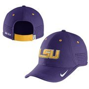 Men's LSU Tigers Nike Purple 2014 Music City Bowl Sideline Diamond Dust Coaches' Adjustable Hat