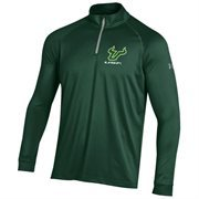 Men's South Florida Bulls Under Armour Forest Green Quarter Zip Tech T-Shirt