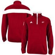 Indiana Hoosiers adidas Football Sideline Coaches 1/4 Zip Knit Jacket - Crimson