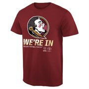 Men's Florida State Seminoles Garnet 2015 College Football Playoff Rose Bowl Bound We're In T-Shirt