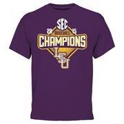 Men's Purple LSU Tigers 2015 SEC Regular Season Baseball Champions T-Shirt