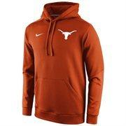 Mens Texas Longhorns Nike Burnt Orange 2014 Sideline KO Chain Fleece Therma-FIT Hoodie