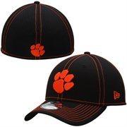 Men's New Era Black Clemson Tigers Team Neo 39THIRTY Flex Hat