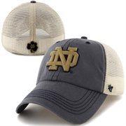 '47 Brand Notre Dame Fighting Irish Caprock Canyon Flex Hat - Navy Blue/White