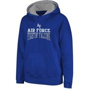 Air Force Falcons Logo & Arch Pullover Hoodie - Royal Blue