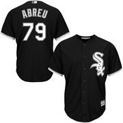Mens Jose Abreu Black Chicago White Sox Official 2015 Cool Base Authentic Collection Player Jersey