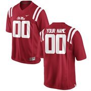 Men's Ole Miss Rebels Nike Cardinal Team Color Custom Game Jersey
