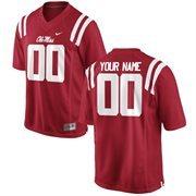 Men's Ole Miss Rebels Nike Cardinal Team Color Custom Game Jersey