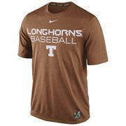 Mens Nike Burnt Orange Texas Longhorns Baseball Team Issue Legend Performance T-Shirt