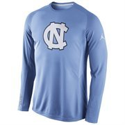 Men's Nike Carolina Blue North Carolina Tar Heels Disruption 2015 Basketball Shooting Dri-FIT Long Sleeve Shirt