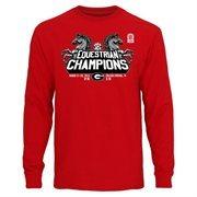 Men's Rasta Georgia Bulldogs 2015 SEC Equestrian Conference Champions Long Sleeve T-Shirt