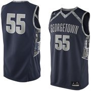 Men's Georgetown Hoyas Nike Navy Blue No. 55 Replica Master Jersey