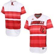 Men's adidas White Louisville Cardinals Authentic Baseball Jersey