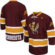 Minnesota Golden Gophers Face Off Hockey Jersey - Maroon