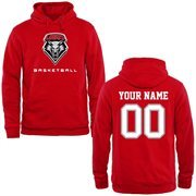 New Mexico Lobos Personalized Basketball Pullover Hoodie - Cherry