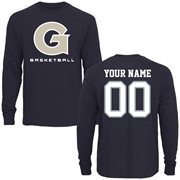 Georgetown Hoyas Personalized Basketball Long Sleeve T-Shirt - Navy Blue