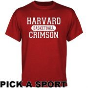 Harvard Crimson Custom Sport T-Shirt - Crimson