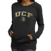 UCF Knights Ladies Scoop Neck Fleece Sweatshirt - Black