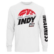 Men's White 2015 Final Four Logo Indy City Long Sleeve T-Shirt