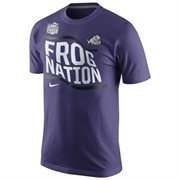 Mens TCU Horned Frogs Nike Purple 2014 Peach Bowl Bound Flag Nation T-Shirt