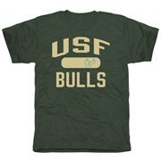 Mens South Florida Bulls Green Athletic Issued Tri-Blend T-Shirt