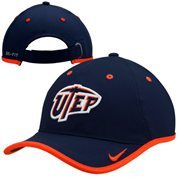 Mens UTEP Miners Nike Navy Coaches Performance Adjustable Hat
