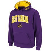 Mens East Carolina Pirates Purple Classic Arch Logo Twill Hoodie