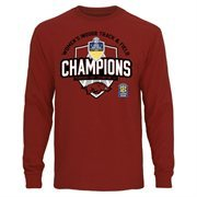 Men's Cardinal Arkansas Razorbacks 2015 SEC Women's Indoor Track & Field Champions Long Sleeve T-Shirt