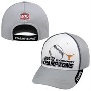 Men's Top Of The World White/Gray Texas Longhorns 2015 Big 12 Men's Baseball Tournament Champions Locker Room Hat