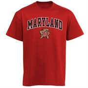 Mens Red Maryland Terrapins Arch Over Logo T-Shirt