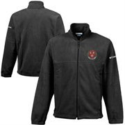 Columbia Harvard Crimson Flanker Full-Zip Fleece Jacket - Black