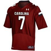 Mens South Carolina Gamecocks No.7 Under Armour Garnet Replica Football Jersey