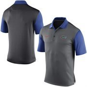 Men's Nike Gray Florida Gators 2015 Coaches Preseason Sideline Polo