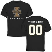 Idaho Vandals Personalized Football T-Shirt - Black
