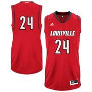 adidas Louisville Cardinals #24 Replica Basketball Jersey - Red