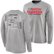 Men's Gray 2015 NCAA Men's Basketball Tournament Bracket Town Long Sleeve T-Shirt