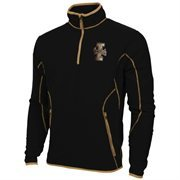 Mens Idaho Vandals Antigua Black Ice Quarter-Zip Fleece Jacket
