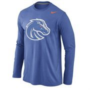 Boise State Broncos Nike Logo Cotton Long Sleeve T-Shirt - Royal Blue