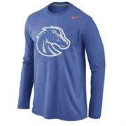 Boise State Broncos Nike Logo Cotton Long Sleeve T-Shirt - Royal Blue