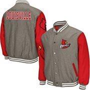 Mens Louisville Cardinals Gray Class Letterman Jacket