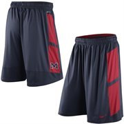 Mens Nike Navy Blue Ole Miss Rebels Varsity Fly Performance Shorts