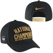 Men's Nike Black UConn Huskies 2015 NCAA Women's Basketball National Champions Locker Room Adjustable Hat