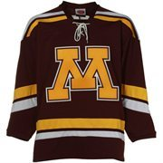 Minnesota Golden Gophers Maroon Tackle Twill Hockey Jersey