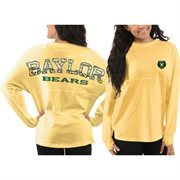 Women's Baylor Bears Yellow Aztec Sweeper Long Sleeve Top