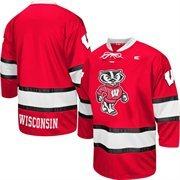 Wisconsin Badgers Face Off Hockey Jersey - Cardinal