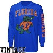 Mens Florida Gators Royal Blue Arch & Logo Long Sleeve T-Shirt