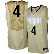 Nike Purdue Boilermakers #4 Swingman Aerographic Twill Basketball Jersey - Old Gold