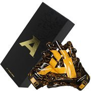 Nike Army Black Knights Pro Combat Rivalry Vapor Jet 2.0 Skill Gloves - Black/Gold