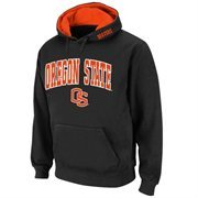 Oregon State Beavers Arch and Logo Pullover Hoodie Sweatshirt - Black