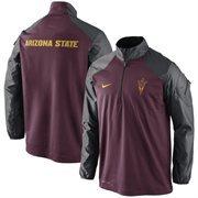 Arizona State Sun Devils Nike Coaches Sideline Half Zip Performance Jacket - Maroon